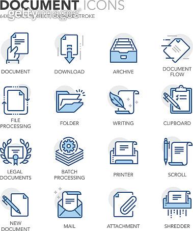 Blue Line Icons