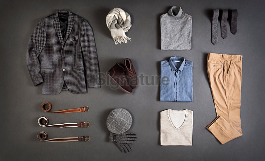 Men's clothes isolated