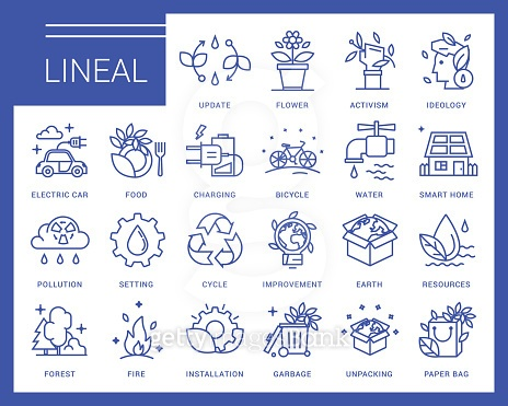 Lineal icon set