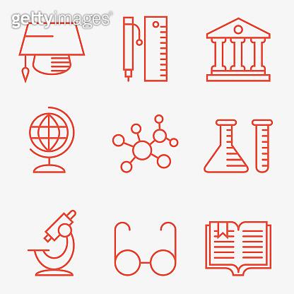 Thin line icons 9