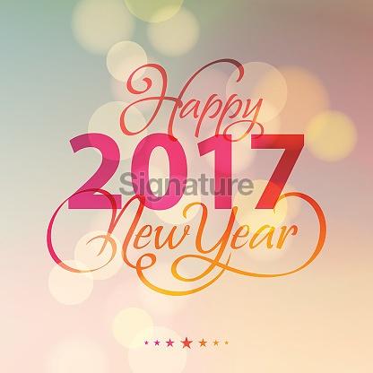 New Year Lighting Background 2017