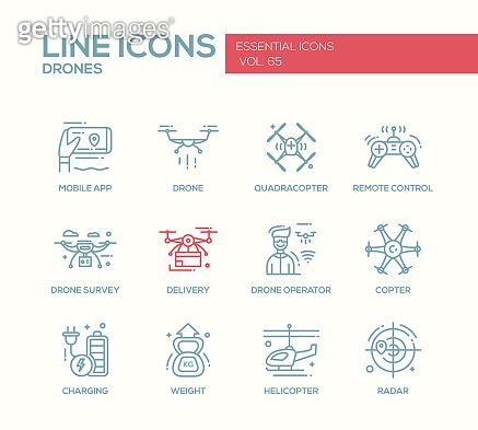 Line icons - essential