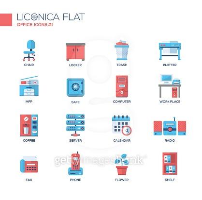Liconica flat icon set