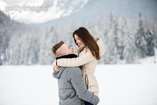 겨울, 연인, 눈