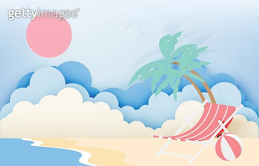 summer, papaer art style