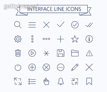 Line icons - Editable stroke