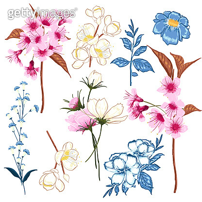 Floral background print