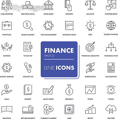 Set of 32 line icons