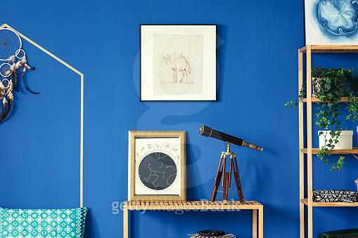 Blue color interior