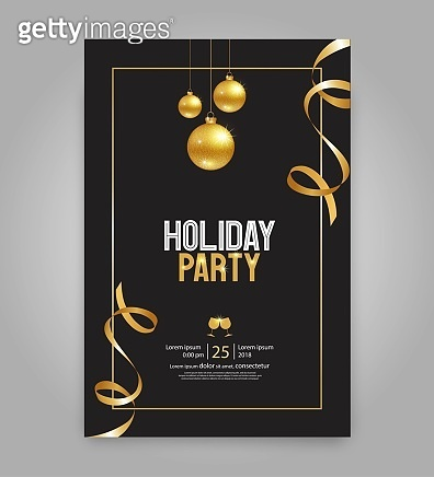 Holiday party card template