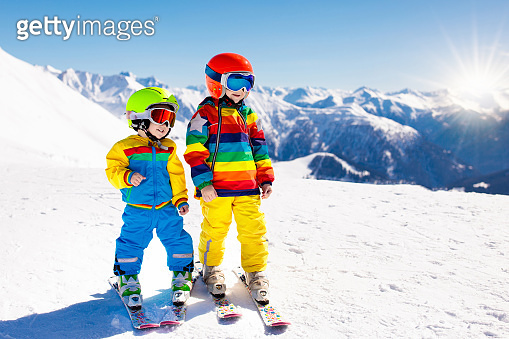 Ski and snow winter fun for kids