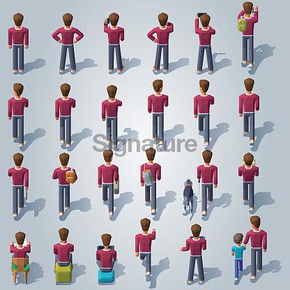 Isometric People Set