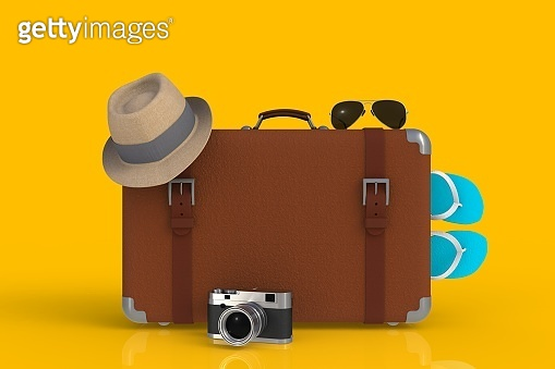 traveler, flat background