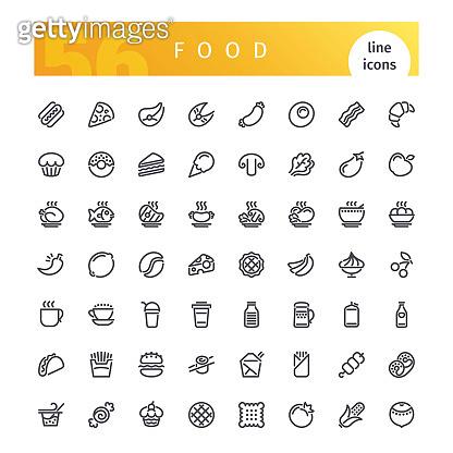 Line icons - food