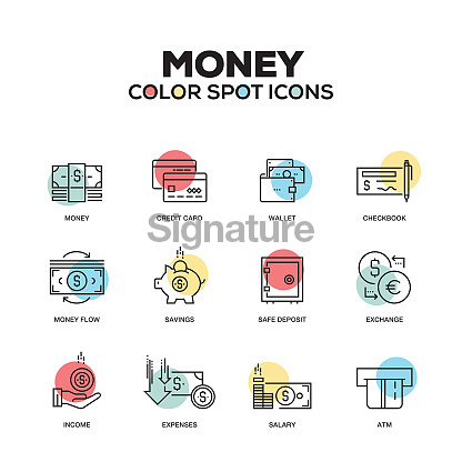 Money - line icons set