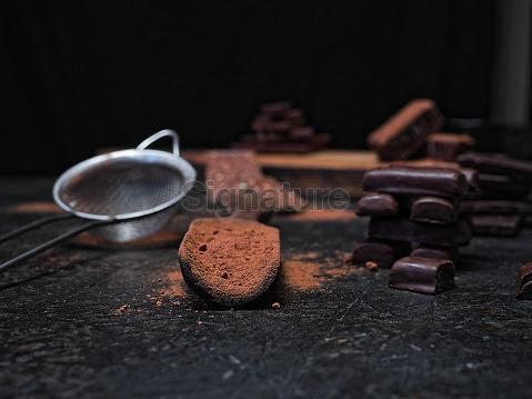 Chocolate over black