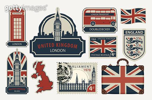 United Kingdom in retro style