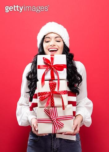 Woman & Christmas gift