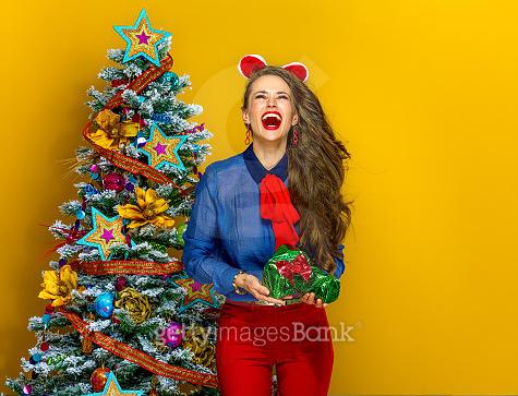 christmas tree & girl