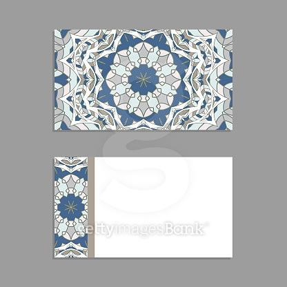 Oriental pattern template