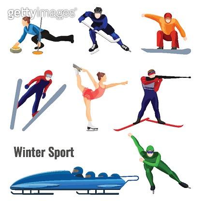 Set of winter sport