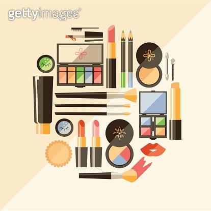 Flat cosmetics