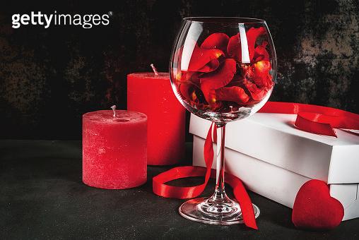 Gift box and wineglass
