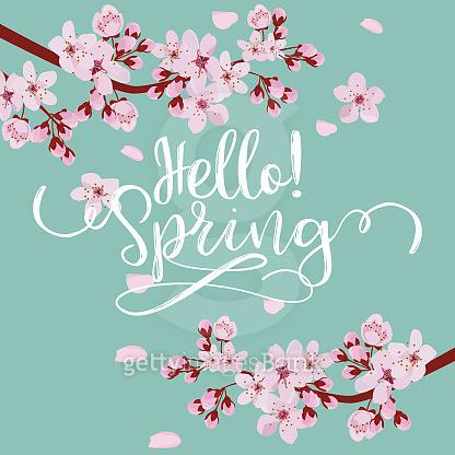 spring season vector