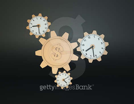 Gear, Time, Currency Symbol