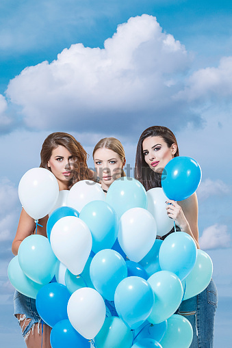 helium blue balloons