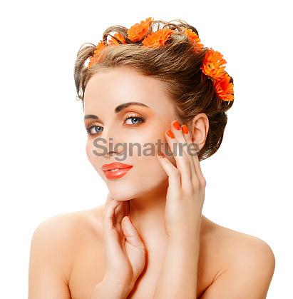 woman & orange color