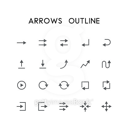 Outline icon set - Basic