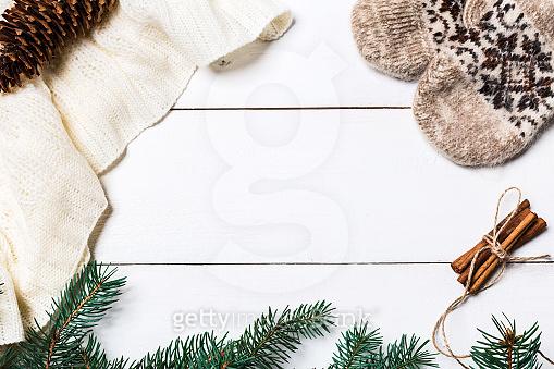 Christmas flat background
