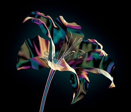color glass flower