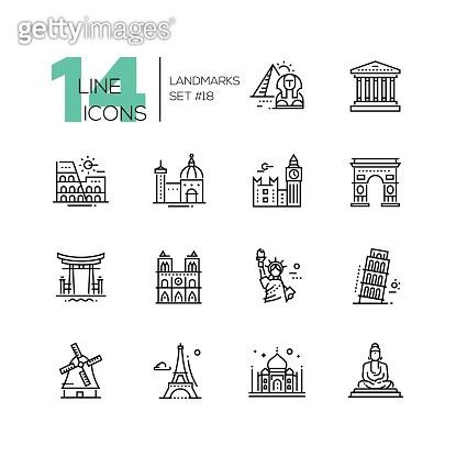 Icon set - Landmark
