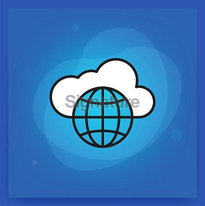Cloud Line Icon set