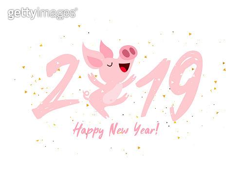 2019 Cute pig