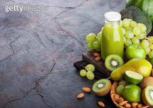 Green toned fruits