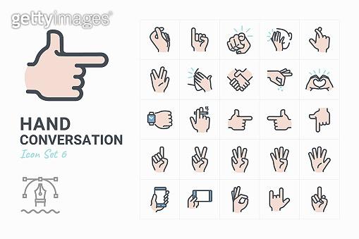 Hand Conversation icons