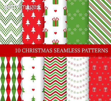 Set of christmas patterns