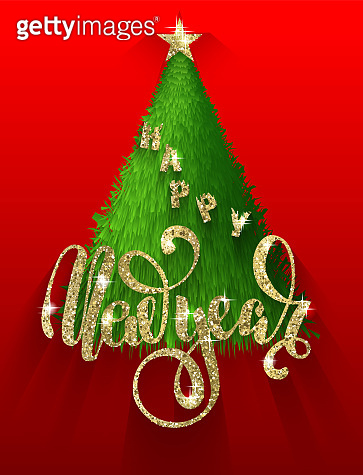 christmas postcard with lettering
