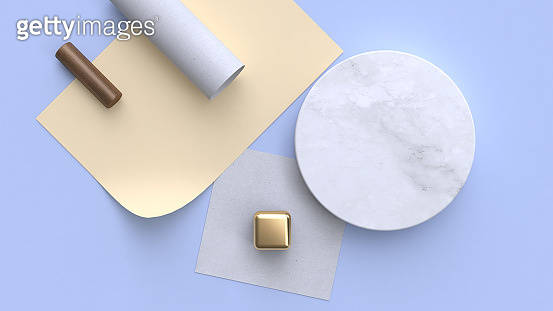 minimal abstract flat lay background