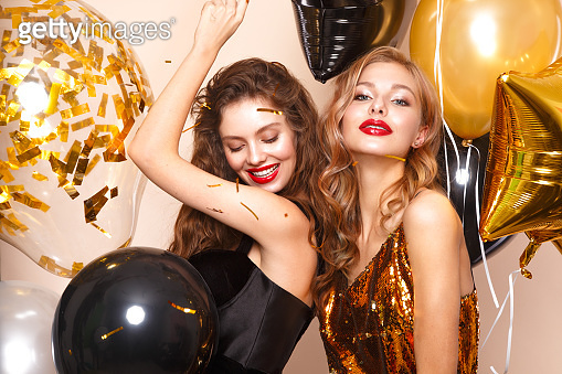 Beautiful young girls in party