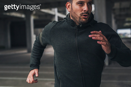 Running man in sportswear