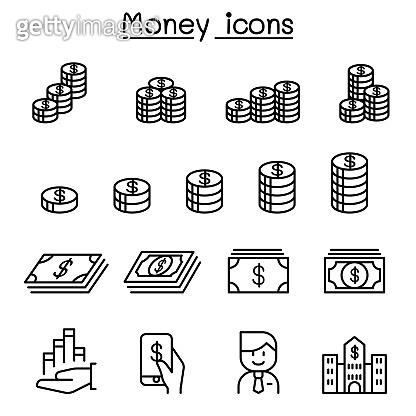 Line icons - Money