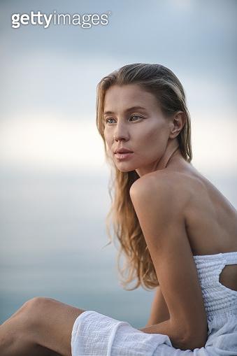 Mari on the beach