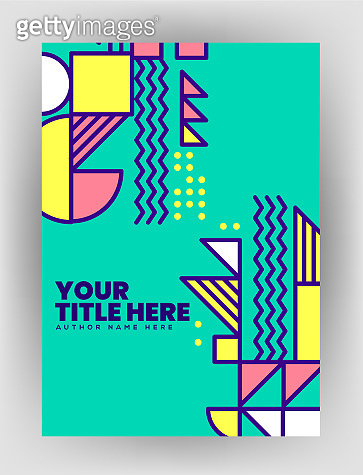 Text with abstract shape design