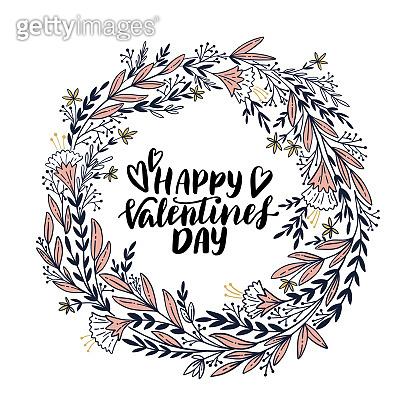 Valentine, love, hand-lettering.