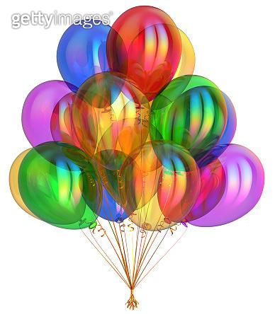 helium balloon 3d illustration