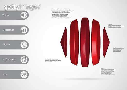 3D illustration infographic template